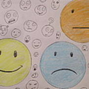 Smiley Face And Friends Art Print