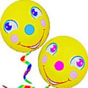 Smiley Face Balloons Art Print