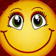 Smiley Sun Art Print