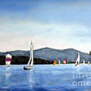 Smith Mountain Lake Regatta #4 Art Print