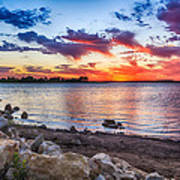 Smithville Lake Sunset Art Print