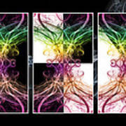 Smoke Art Triptych Art Print