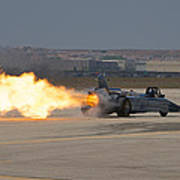 Smoke N Thunder Jet Car Art Print