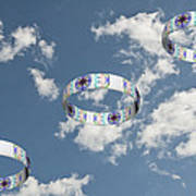 Smoke Rings In The Sky 2 Art Print