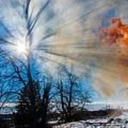 Smoke Thru The Trees Art Print