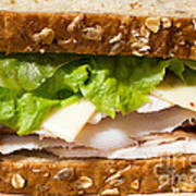 Smoked Turkey Sandwich Art Print