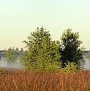 Smokey Autumn Prairie Art Print