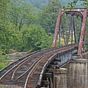 Smokey Mountain Railroad Steel Girder Bridge Art Print