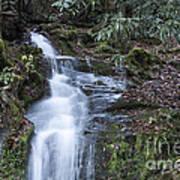 Smokey Mountain Waterfall Art Print