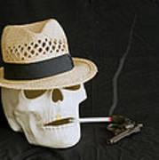 Smoking Skull  Art Print