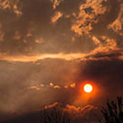 Smoky Clouds Over The Rogue Valley Art Print