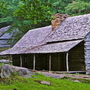 Smoky Mountain Cabins Art Print