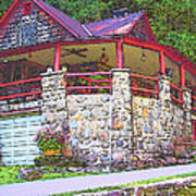 Old Log Cabin - Smoky Mountain Home Art Print