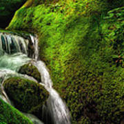 Smoky Mountain Stream And Boulders E223 Art Print