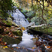 Smoky Mountain Waterfall Art Print