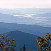 Smoky Mountains From Clingmans Dome Art Print