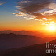 Smoky Mountains Sunset Art Print