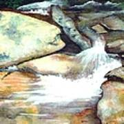 Smoky Mountains Waterfall Art Print