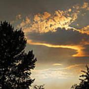 Smoky Summer Afternoon Sky Art Print