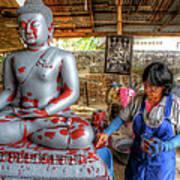 Smoothing Buddha Art Print