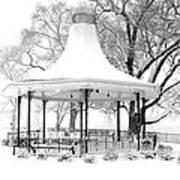 Smothers Park Gazebo Print by Wendell Thompson