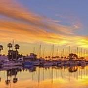 Smyrna Yacht Club Sunrise II Art Print