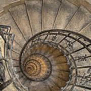 Snailing Stairs Art Print