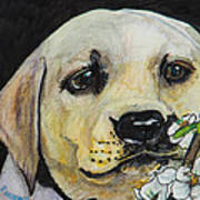 Sniff The Flowers Art Print by Roger Wedegis