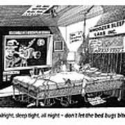 Snoozer Sleep Lab Study Art Print