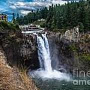 Snoqualmie Falls Art Print by Chris Heitstuman