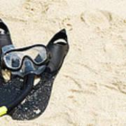 Snorkel Equipment Art Print
