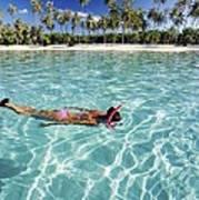 Snorkeling In Polynesia Art Print