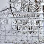 Snow - Ice - Fence Art Print