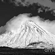 Snow And Clouds On Mt. Ngauruhoe 2 Art Print