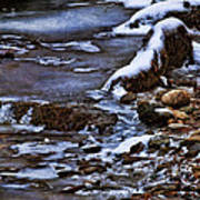 Snow And Ice Water And Rock Art Print by Dale Kincaid