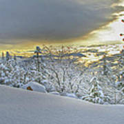 Snow And The Sierra Highway 88 Art Print