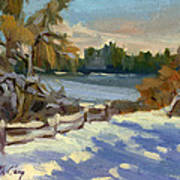Snow At Martha Lake Art Print