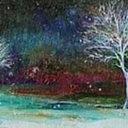 Snow At Twilight Art Print