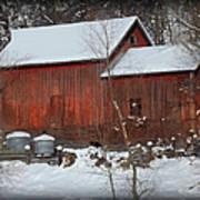 Snow Barn II Art Print