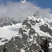Snow Bowl In Italian Alps Art Print