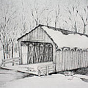 Snow Bridge 2012  Art Print