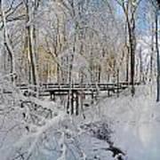 Snow Bridge Art Print