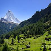 Snow-capped Matterhorn Art Print