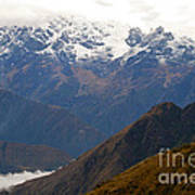 Snow Clouds In The Andes Art Print