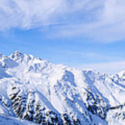 Snow Covered Alps, Schonjoch, Tirol Art Print