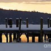 Snow Covered Docks Art Print