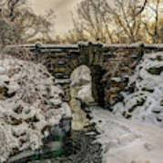 Snow-covered Glen Span Arch, Central Art Print