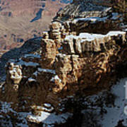 Snow Covered Grand Canyon Art Print