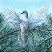 Snow Crystal Dove Art Print