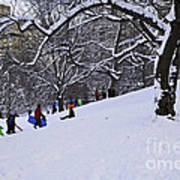 Snow Day In The Park Art Print by Madeline Ellis